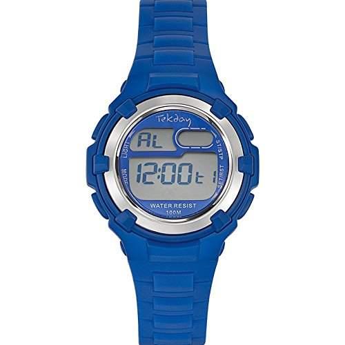 Tekday Unisex-Armbanduhr 653798 Digital Kunststoff, blau