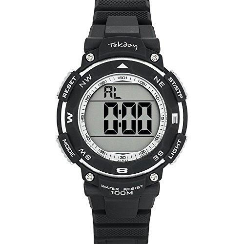 Tekday 653925 Armbanduhr Quarz Digital Zifferblatt Blau Armband Kunststoff blau