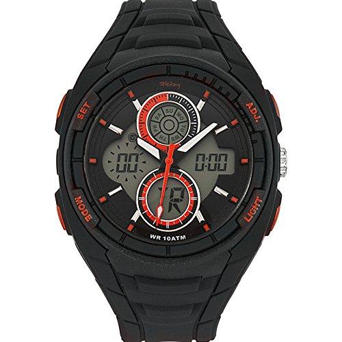 Tekday Herren Armbanduhr Quarz Schwarz 655775