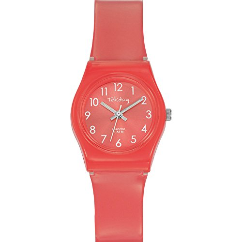 Tekday Unisex Armbanduhr Analog Quarz Rosa 653915