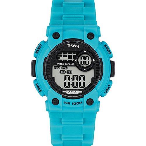 Tekday Unisex Armbanduhr Digital Quarz Blau 653872