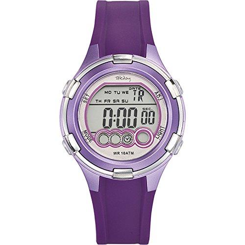 Tekday Unisex Armbanduhr Digital Quarz Violett 653860