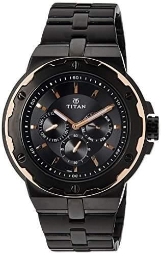 Titan Herren Analog Dress Quartz Reloj 1654KM04