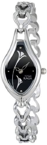 Titan Damen 2457SM02 Raga Inspired Steel Tone Armbanduhr