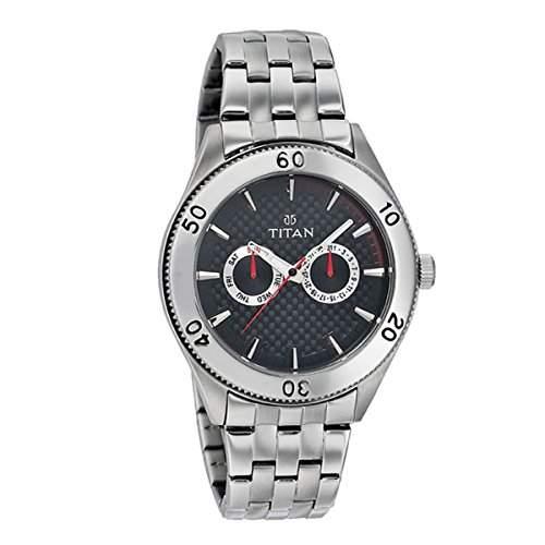 Titan Herren Analog Casual Quartz Reloj 9324SM07