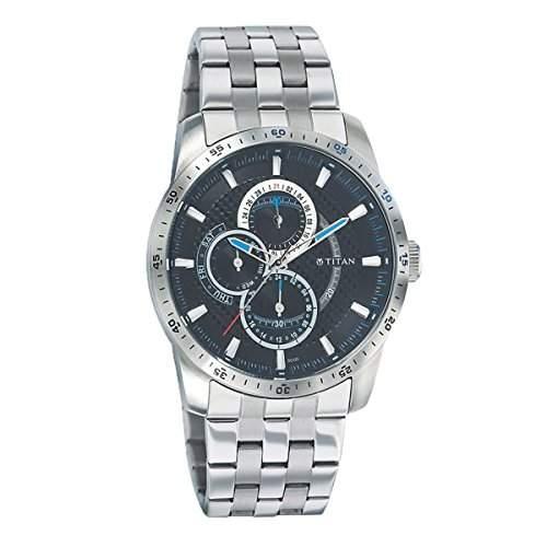 Titan Herren Octane Analog Casual Quartz Reloj 9449SM01