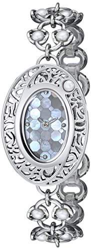 Titan Damen 9973sm01Raga Pearl Armbanduhr Analog Display silber Quarz