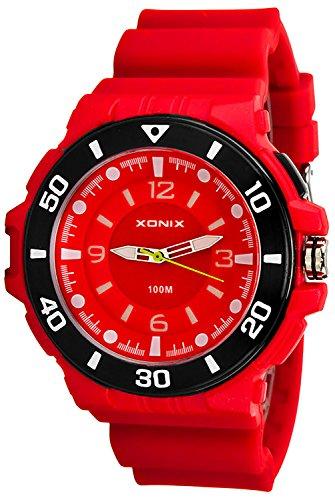 12 Ziffernblatt XONIX Armbanduhr fuer Herren und Teenager nickelfrei WR100m Licht XDGN11U 2