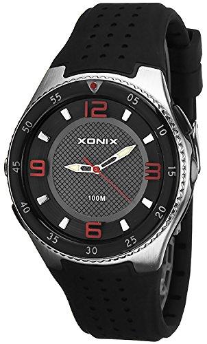 Analoge Armbanduhr XONIX fuer Herren mit Taschenlampe WR100m X48Q7K 6