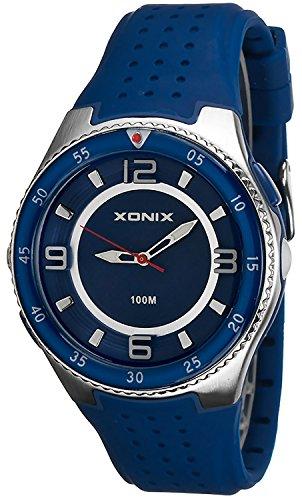 Analoge Armbanduhr XONIX fuer Herren mit Taschenlampe WR100m X48Q7K 3