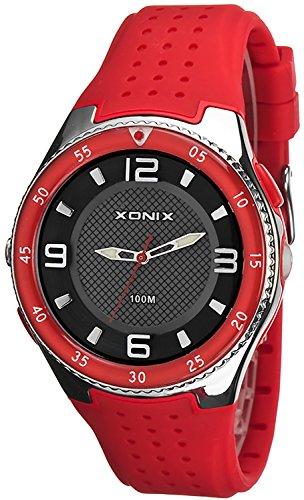 Analoge Armbanduhr XONIX fuer Herren mit Taschenlampe WR100m X48Q7K 2