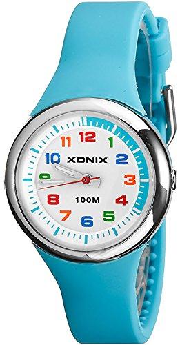 Analoge Armbanduhr XONIX fuer Maedchen und Jungen WR100m nickelfrei XAL31L 7