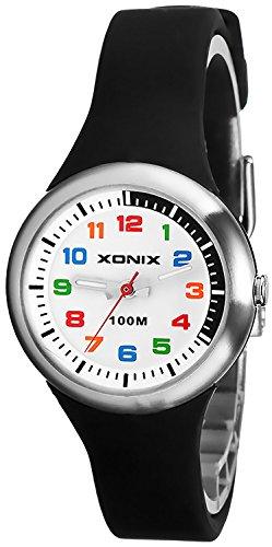 Analoge Armbanduhr XONIX fuer Maedchen und Jungen WR100m nickelfrei XAL31L 2