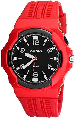 Analoge Herren XONIX Armbanduhr mit grossem Ziffernblatt WR100m XAWQ 4