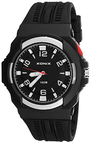 Analoge Herren XONIX Armbanduhr mit grossem Ziffernblatt WR100m XAWQ 6