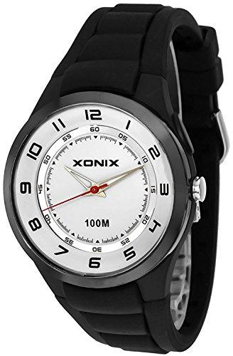 Analoge Unisex XONIX Armbanduhr mit El Hintergrundlicht Wr100m XABO 6
