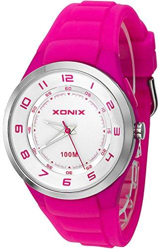 Analoge Unisex XONIX Armbanduhr mit El Hintergrundlicht Wr100m XABO 3