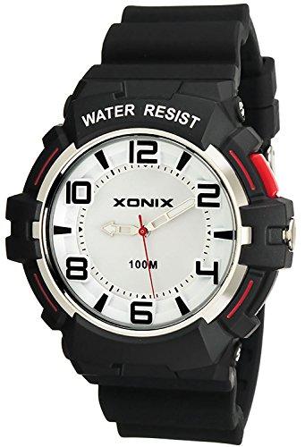 Analoge XONIX Armbanduhr fuer Herren WR100m nickelfrei mit Licht XDHJ9D 3