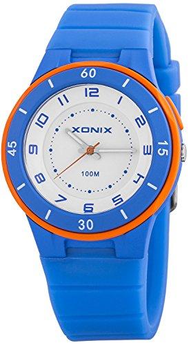 Analoge XONIX Unisex Armbanduhr WR100m mit Hintergrundlicht nickelfrei XAH71O 2