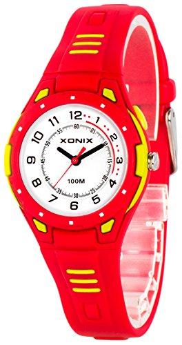 Bunte analoge XONIX Armbanduhr mit Hintergrundlicht WR100m nickelfrei XDK541Y 4