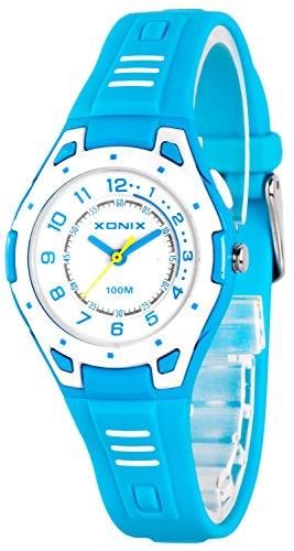 Bunte analoge XONIX Armbanduhr mit Hintergrundlicht WR100m nickelfrei XDK541Y 1