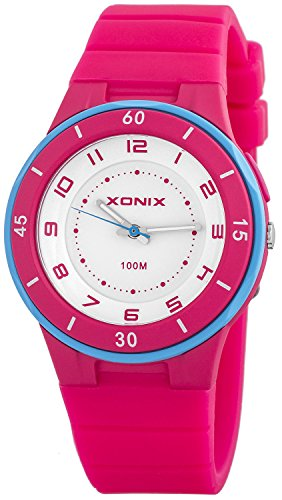 Analoge XONIX Unisex Armbanduhr WR100m mit Hintergrundlicht nickelfrei XAH71O 3