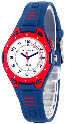 Bunte analoge XONIX Armbanduhr mit Hintergrundlicht WR100m nickelfrei XDK541Y 6
