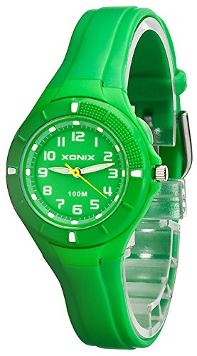 Kleine analoge XONIX Armbanduhr mit Hintergrundlicht wasserdicht bis 100m XAT86P 5