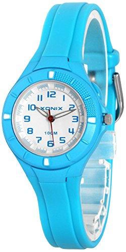 Kleine analoge XONIX Armbanduhr mit Hintergrundlicht wasserdicht bis 100m XAT86P 8