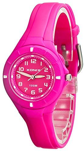 Kleine analoge XONIX Armbanduhr mit Hintergrundlicht wasserdicht bis 100m XAT86P 6