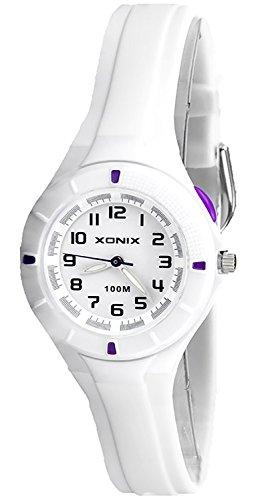 Kleine analoge XONIX Armbanduhr mit Hintergrundlicht wasserdicht bis 100m XAT86P 2