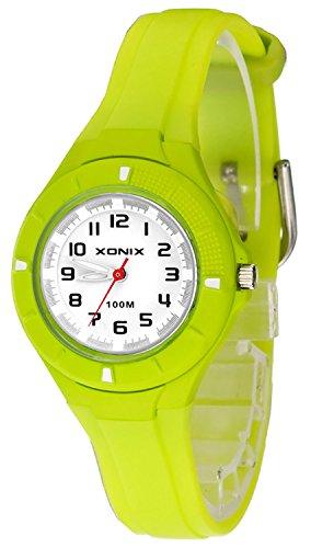 Kleine analoge XONIX Armbanduhr mit Hintergrundlicht wasserdicht bis 100m XAT86P 4