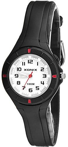 Kleine analoge XONIX Armbanduhr mit Hintergrundlicht wasserdicht bis 100m XAT86P 1