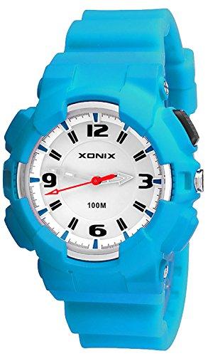 Analoge XONIX Armbanduhr fuer Damen und Kinder Licht WR100m nickelfrei XAAO 8