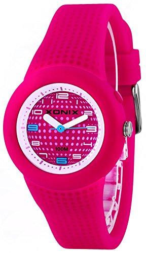 Kleine analoge XONIX Armbanduhr fuer Damen und Maedchen mit Licht WR100m XRKP43HE 4