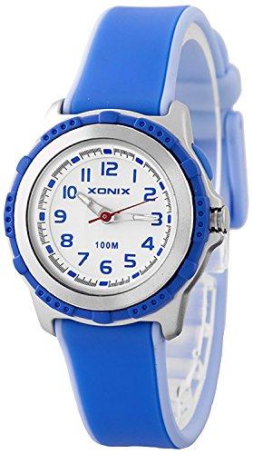 Kleine analoge XONIX Armbanduhr mit Licht nickelfrei wasserfest bis 100m Damen Kinder XAE63O 6