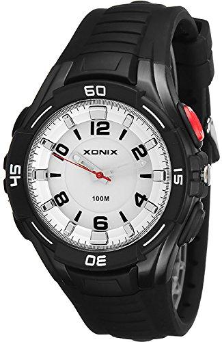 Grosse analoge XONIX Armbanduhr fuer Ihn nickelfrei wasserfest bis100m XAVQ 6