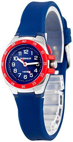 Bunte Analoge XONIX Armbanduhr mit Licht WR100m nickelfreifuer Damen und Kinder XAMCH12 7