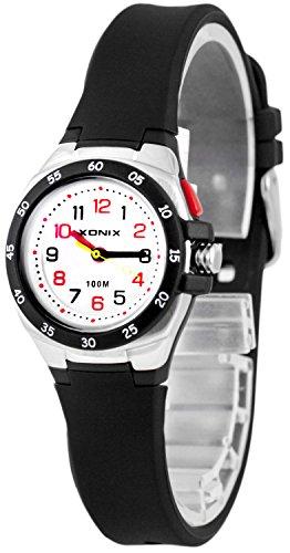 Bunte Analoge XONIX Armbanduhr mit Licht WR100m nickelfreifuer Damen und Kinder XAMCH12 6