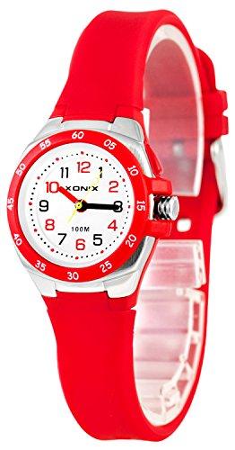 Bunte Analoge XONIX Armbanduhr mit Licht WR100m nickelfreifuer Damen und Kinder XAMCH12 1