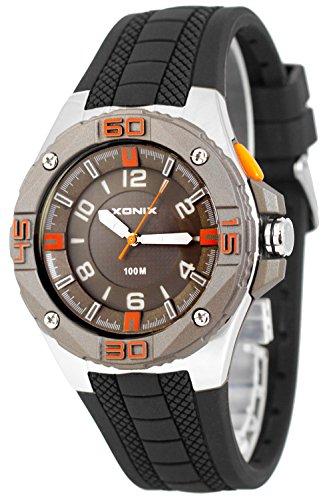 Grosse analoge XONIX Armbanduhr fuer Herren mit Licht wasserdicht bis100m XADM77A 5