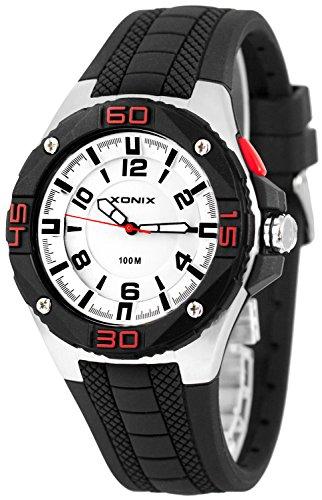 Grosse analoge XONIX Armbanduhr fuer Herren mit Licht wasserdicht bis100m XADM77A 1