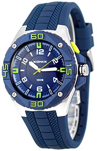 Grosse analoge XONIX Armbanduhr fuer Herren mit Licht wasserdicht bis100m XADM77A 4