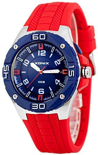 Grosse analoge XONIX Armbanduhr fuer Herren mit Licht wasserdicht bis100m XADM77A 3