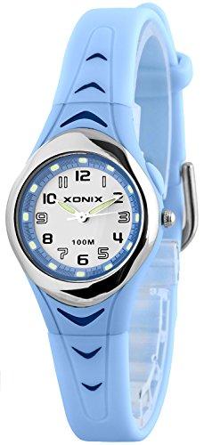Kleine analoge XONIX Armbanduhr fuer Damen Maedchen wasserfest bis 100m nickelfrei IT 7