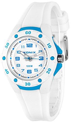 Analoge Damen KInder XONIX Armbanduhr mit Licht wasserfest bis 100m nickelfrei XAWV82 1
