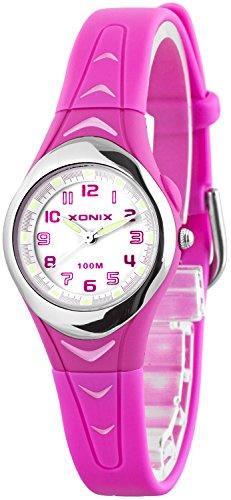 Kleine analoge XONIX Armbanduhr fuer Damen Maedchen wasserfest bis 100m nickelfrei IT 3