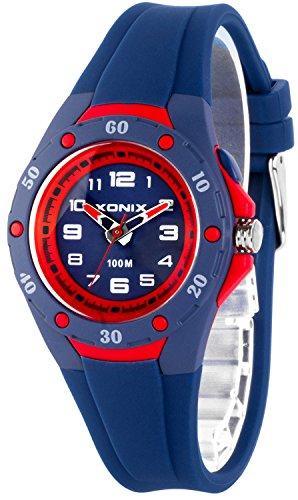 Analoge Damen KInder XONIX Armbanduhr mit Licht wasserfest bis 100m nickelfrei XAWV82 6