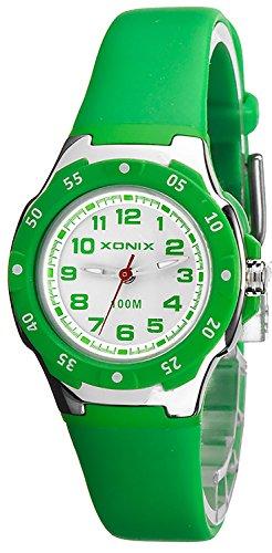 Kleine analoge XONIX Kinderarmbanduhr wasserdicht bis 100m nickelfrei XP81LB 3