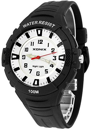 Analoge XONIX Herren und Teenager Armbanduhr mit Licht nickelfrei WR100m IQ 2